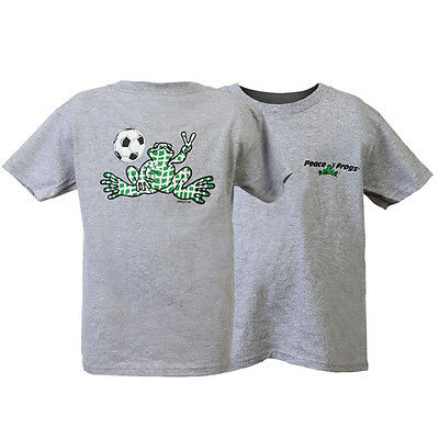 Peace Frogs Ash Grey Soccer Youth Large (14-16) T-Shirt