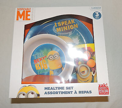 NEW Minions Despicable Me Baby, Toddler, Kid, Dish Set Plate Bowl Cup, Feeding