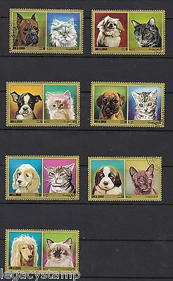 Topical Stamp Collection - Dogs & Cats - (7) Stamps