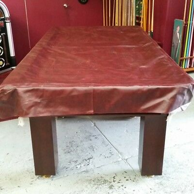 Heavy Duty FITTED Pool Snooker Billiards TABLE COVER - 8' - BURGUNDY