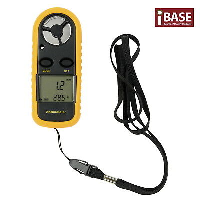 Digital Anemometer Air Thermometer Wind Speed Handheld Surfing Lcd Light Weather