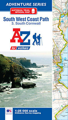 South West Coast Path South Cornwall Adventure Atlas by A-Z Maps Paperback, 2016