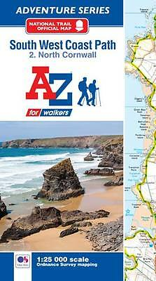A-Z South West Coast Path North Cornwall Adventure Atlas, Paperback OS 25000 map