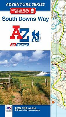 South Downs Way Adventure Atlas by A-Z Maps 2017 (Paperback, OS 25000 Mapping)