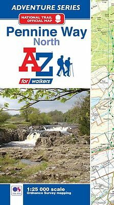 A-Z Pennine Way (North) Adventure Atlas (Paperback , OS 25000 Mapping)