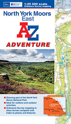 A-Z North York Moors (East) Adventure Atlas (Paperback OS 25000 mapping)