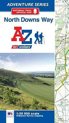 North Downs Way A-Z Adventure Atlas (Paperback, OS 250000 mapping)