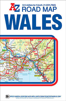 Wales Road Map by A-Z Maps (Sheet map, folded)