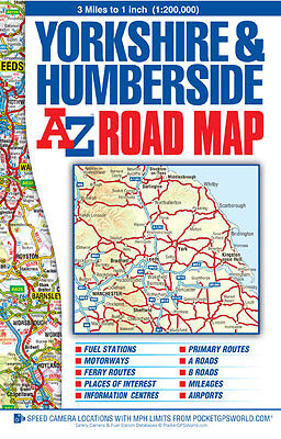 A-Z Yorkshire & Humberside Road Map (Sheet map, Folded, Road Map)