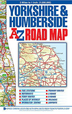 Yorkshire & Humberside Road Map by A-Z Maps (Sheet map, Folded)
