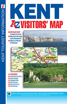 Kent Visitors Map by Geographers A-Z Map Co. Ltd. (Sheet map, folded, 2014)