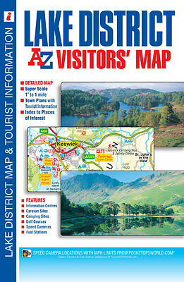 Lake District Visitors Map by A-Z Map Company (Sheet map, Folded 2015)
