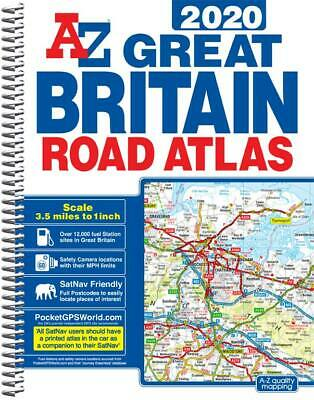 Great Britain Road Atlas A4 by A-Z Map Company (Spiral, 2018)