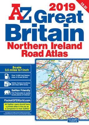 Great Britain Road Atlas A3 by A-Z Map Company (Paperback, 2018)