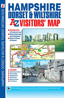 Hampshire, Dorset & Wiltshire Visitors Map by A-Z Map Co Ltd (Sheet Map, Folded)