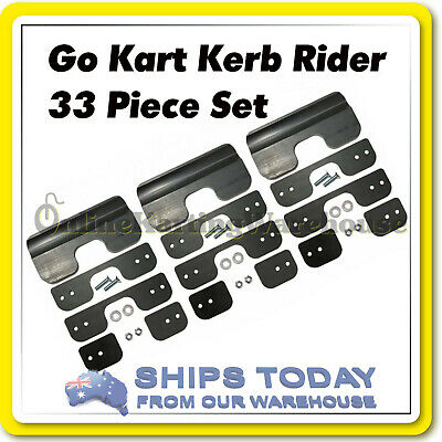 Go Kart Kerb Rider 3Pc Set Universal Easy To Fit Protect Your Chassis !! New !!