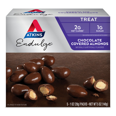 Atkins Endulge Chocolate Covered Almonds 140 g, Sugar Free, Low Carb