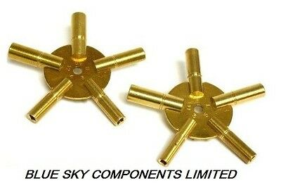 Clock Keys for Winding BRASS Spider Keys 1 x Odd 1 x Even 10 Sizes Ship Same Day