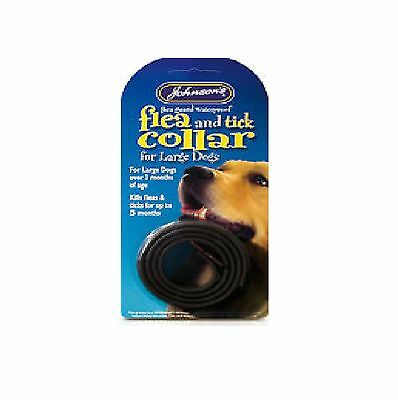JOHNSONS FLEA&TICK COLLAR WATERPROOF DOGS Lrg Posted Today if Paid Before 1pm