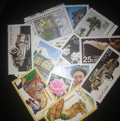 10 MNH  All Different 25 cent stamps