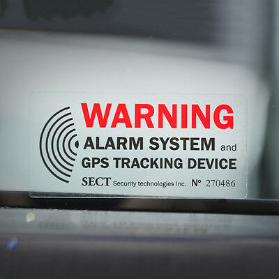 4 x CAR ALARM SYSTEM WARNING STICKER DECAL - Anti Theft GPS Tracker Window