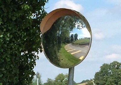 30/45/60/80cm CONVEX BLIND SPOT SAFETY MIRROR TRAFFIC DRIVEWAY SHOP JUNCTION ORN