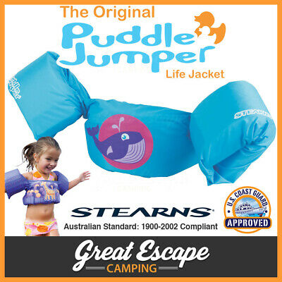 PUDDLE JUMPER FLOATIES Stearns Whale Kids Flotation Swimming Australian Standard