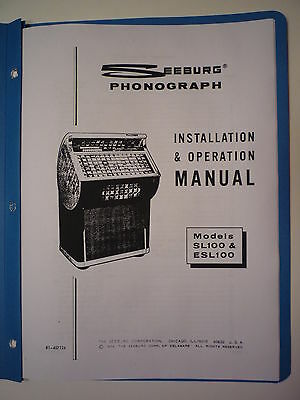 Seeburg SL100-ESL100 Jukebox Install & Operation Manual
