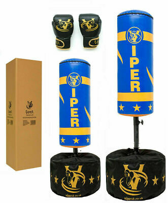 Viper Junior Boxing Free standing Punch Bag Set Kids Gloves Children