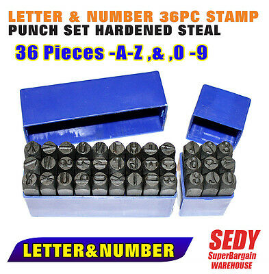 36 Pc Letter And Number Stamp Punch Set Hardened Steel 3Mm Brand New Lettering
