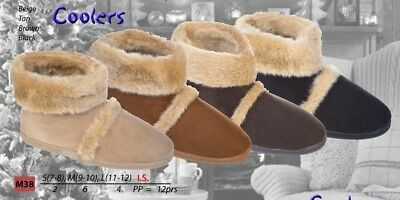 Mens Bootie Slippers With Outside Sole  Coolers Famous Booties  FREE POST  NEW