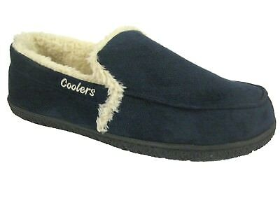 MENS COOLERS FULL FOOT SLIPPERS OUTDOOR SOLE SIZES 7 to 12 FREE POST  BRAND NEW
