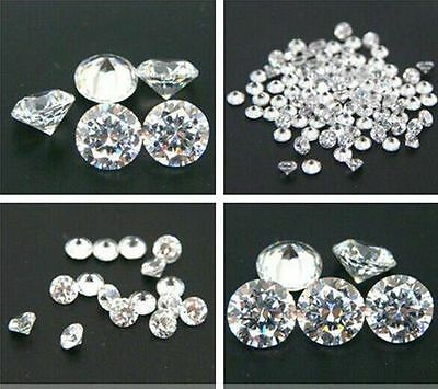 Cubic Zirconia  CZ  Brilliant Cut Rounds Loose Gemstone DIY for Jewelry 0.8-12mm