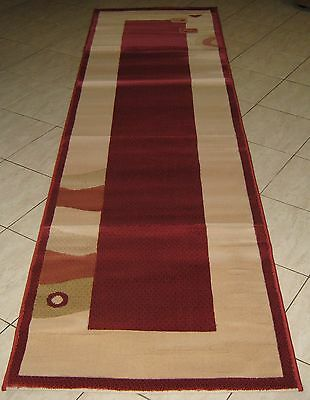 New Modern Turkish Heatset Floor Hallway Runner Rug 80X300Cm