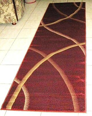 New Modern High Quality Heatset Hallway Floor Runner Rug 80X300Cm