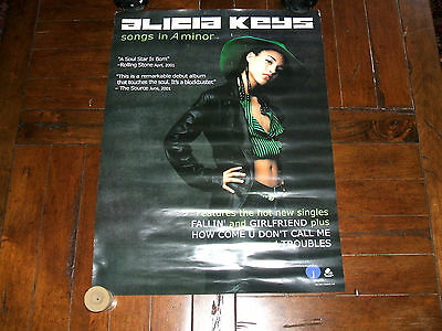 Alicia Keys 2001 Songs In A Minor Two-Sided PROMO Record Company POSTER Rare