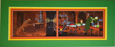 Hanna Barbera SCOOBY DOO GANG - NO WHERE TO HYDE PRINT PROFESSIONALLY MATTED
