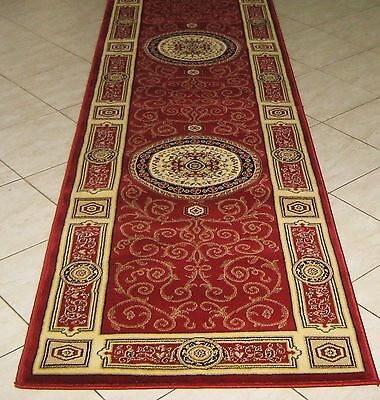 New Persian Design High Quality Heatset Floor Hallway Runner Rug 80X300Cm