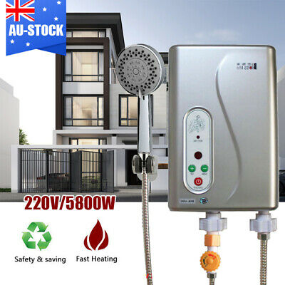 Instant Electric Hot Water Tankless Heater Shower System