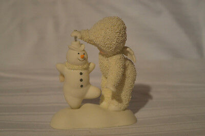 "Department 56 Snowbabies ""LETS GIVE IT A WHIRL, MR. SNOWMAN"" NIB 2007 FIGURINE"
