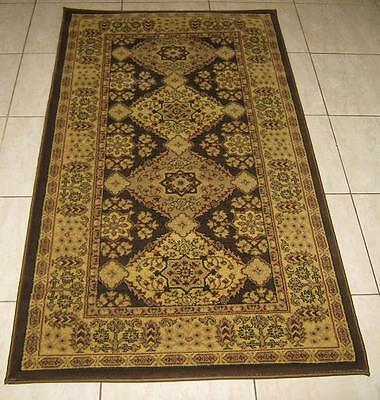 New Brown Persian Design High Quality Heatset Floor Hallway Runner Rug 80X150Cm