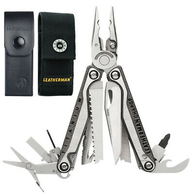 New Latest 2018 Leatherman Charge Tti + Plus Titanium Multitool + Sheath