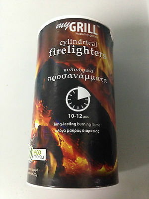 FIRELIGHTERS MY GRILL. BAREL OF 200g. LONG LASTING ~ ECOFRIENDLY. 200g