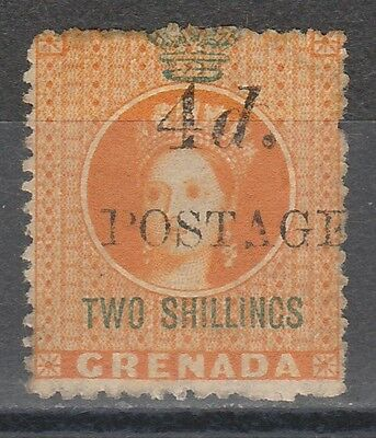 Grenada 1888 Qv 4D On 2/- 4Mm Spacing