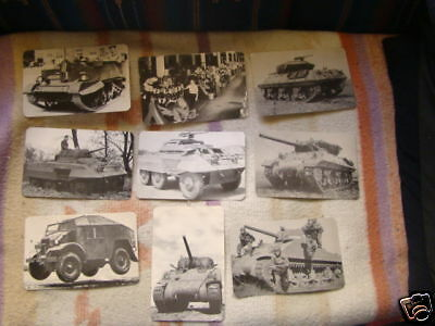 Original Wwii Ford Motor Co Military Complete Full  B/w Postcards