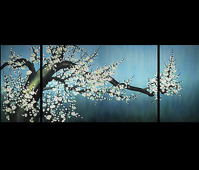 Feng Shui Cherry Blossom Painting Chinese Painting Stretched Canvas Prints