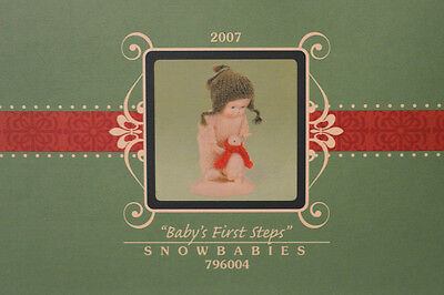 "Department 56 Snowbabies ""BABY'S FIRST STEPS"" MIB Figurine 2007 BABY PENGUIN"