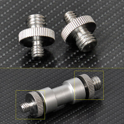 "2Pcs 1/4"" to 3/8"" Male Threaded Screw Adapter for Camera Tripod Monopod Ballhead"