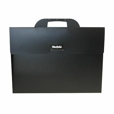 Westfolio Black A3 Portfolio Holder Plastic Carry Case Organizer Artist Artwork
