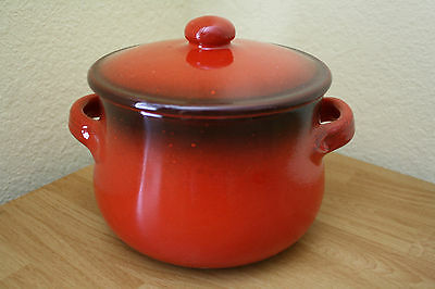 Terre D'umbria Slow Cooking Terracotta Pot Bean Pot Italy Red Nwt